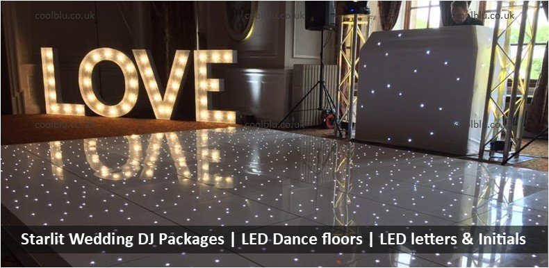 Wedding DJ Packages | LOVE letters | LED Dance floors | Moodlighting