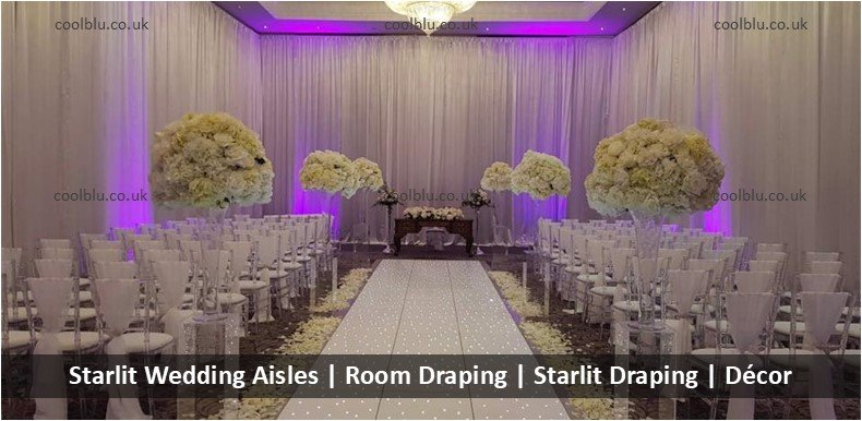 Starlit Wedding Aisle | Venue Draping | Starlit Draping | Room Decor