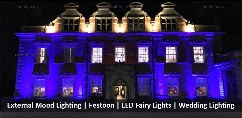 External Mood lighting | LED Fairy Lights | Festoon | Wedding Lighting