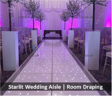 Starlit Wedding Aisle | Venue Draping | North East | Darlington
