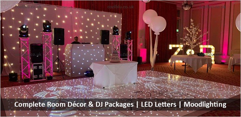 Wedding Decor Packages | Moodlighting | Wedding DJ | LED Dance floors