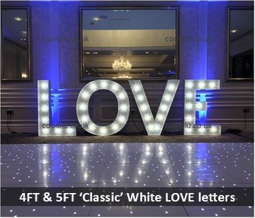LED LOVE letters | Giant Letters | LED Letters | LOVE, MR, MRS, Surnames | Darlington | Middlesbrough