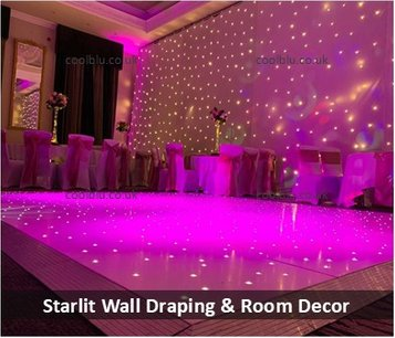 Starlit Draping | Wall Draping | Partition Draping |  LED Wedding Dance floor | Mood Lighting | North East | Middlesbrough